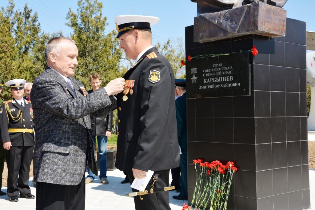 Торжественная церемония открытия памятника Дмитрию Карбышеву
