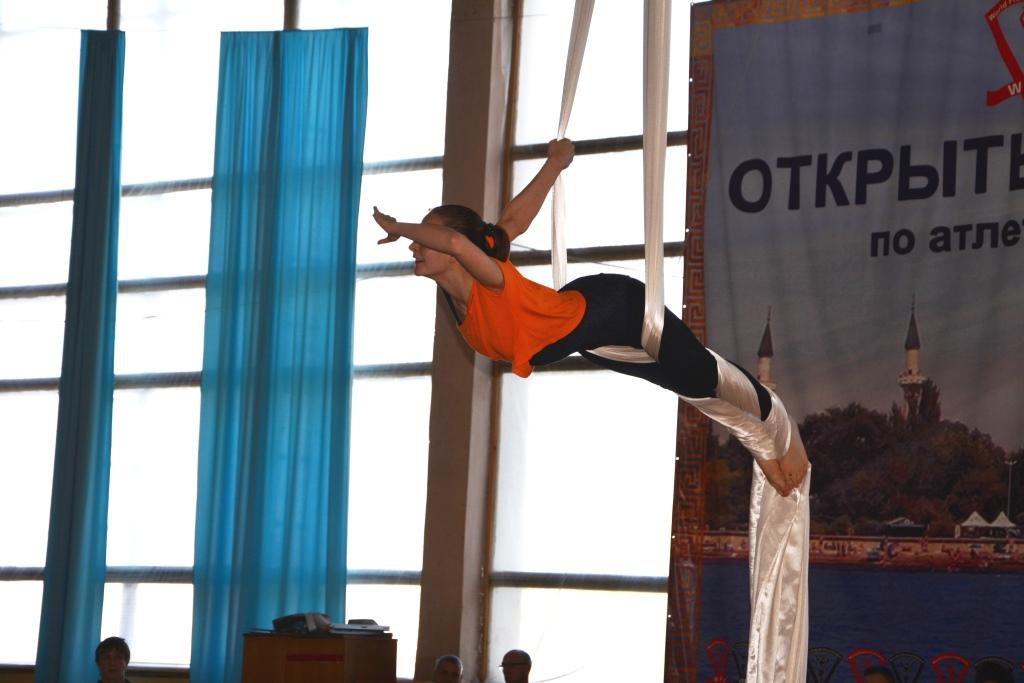 В Евпатории проводится  Чемпионат Республики Крым по спортивной гимнастике