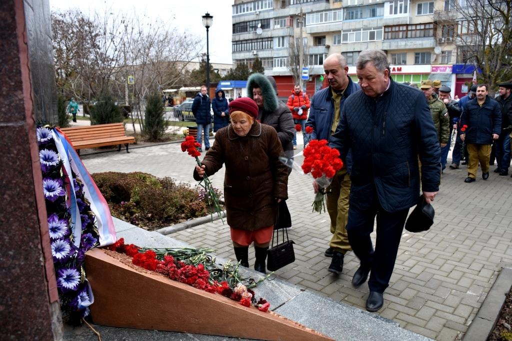 В Евпатории в День памяти ввода войск в Афганистан почтили память погибших